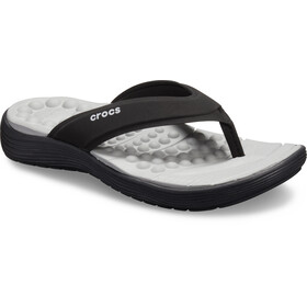 Crocs Reviva Flip Sandals Damen black/black